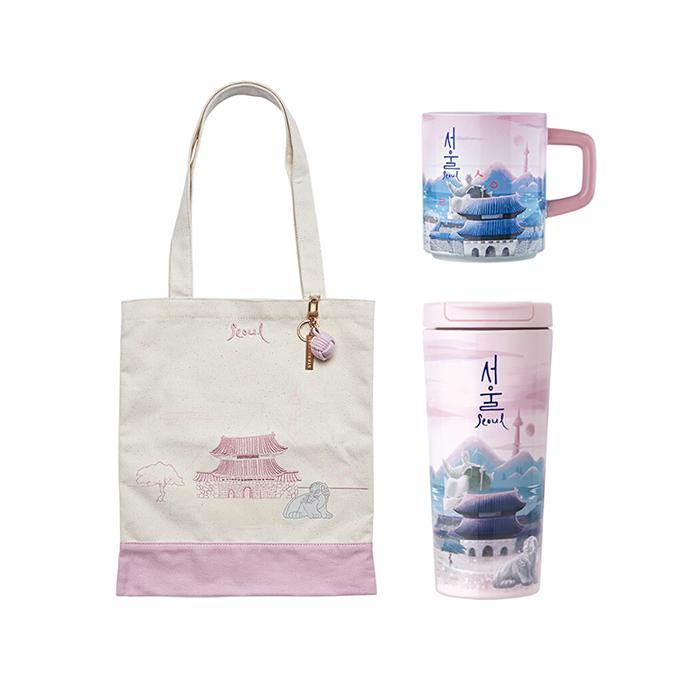 Seoul Bag + Mug + Tumbler Set